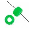 Crowbeads Fluorescent Green Opaque 9mm